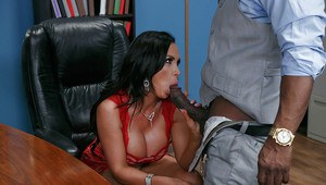 Hot chicks Alex Grey and Nikki Benz suck and fuck cock in office foursome