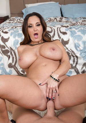 Big boobed Euro mom Ava Addams giving a fat cock a POV blowjob