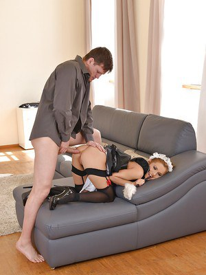 Nasty slut in a uniform Dominica Phoenix getting her ass drilled