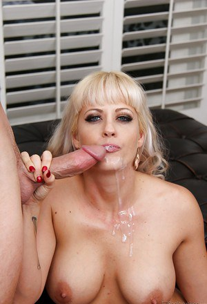 Blonde wife Holly Heart flaunting big tits while riding cock
