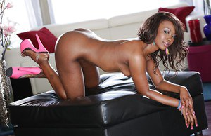 Sexy ebony teenager Skyler Nicole showing off nice black ass
