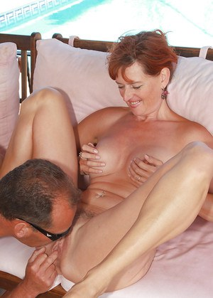Mature first timer Liddy taking doggystyle fucking outdoors