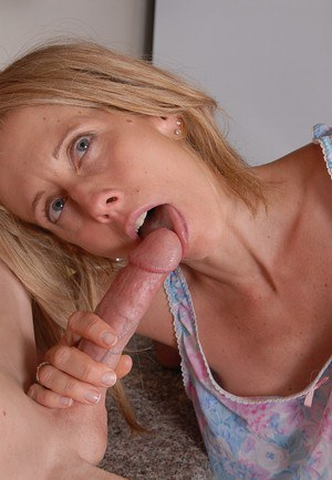 Older blonde lady Charlotte taking a dick in pierced vagina
