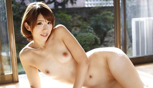 Cute Asian babe Seira Matsuoka modelling non nude in maid uniform