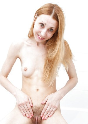 Aged redhead Kler spreading hairy pussy and asshole for close ups