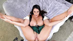 Pornstar Alison Tyler riding long cock in reverse cowgirl position