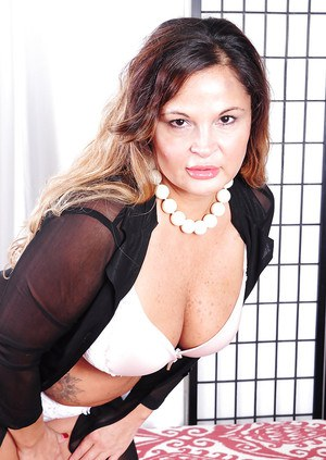 Experienced fatty Stephanie showing big fat panty encased ass