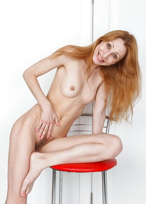 Mature redhead Kler shoving her hairy vagina right in your face