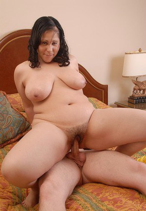 Latina fatty Teedra climbs aboard cock and rides with floppy tits flopping