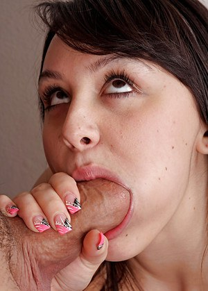 Brunette wife Bella having hairy pussy ate out by her husband