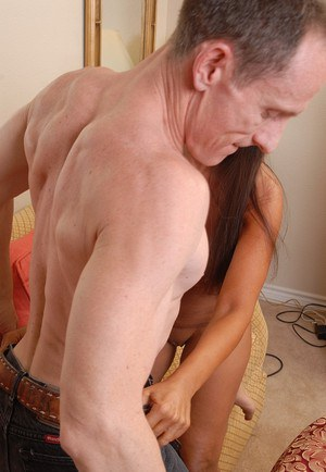 Aged Latina housewife Cassidy blowing and tit fucking a long cock