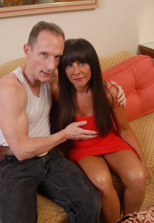 Mature Latina wife Cassidy using large natural tits to smother husband with