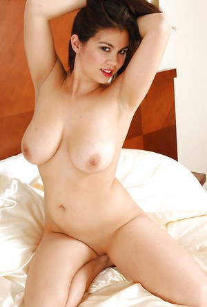 Chubby Asian solo model Mai showing off her big natural breasts