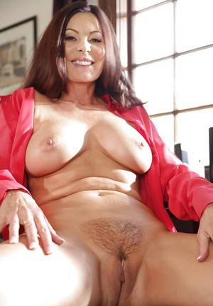 Aged Euro woman Magdalene St Michaels baring big boobs and ass at work