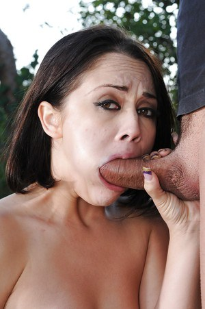 Latina mom Kristina Rose is chipmunked by fat cock while giving blowjob