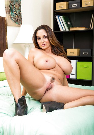Clothed MILF Ava Addams wastes little time in stripping naked