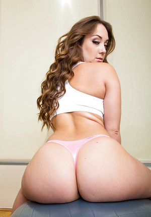 Big bottomed chick Remy LaCroix removes yoga pants to ride dick