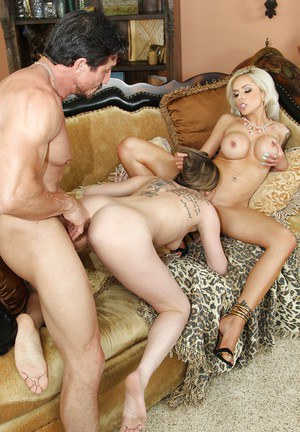 Teen slut Brianna Brown joins MILF Nina Elle and hubby for threesome