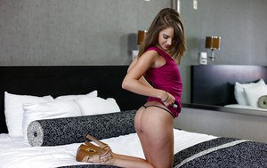 Amateur girl next door Kimmy Granger baring tiny boobs and smooth pussy