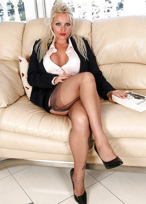 Busty mlf matures in nylons