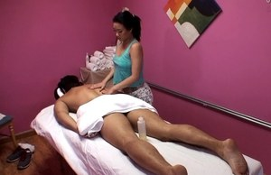 Petite Asian masseuse Sonia Lei giving the best happy ending massage