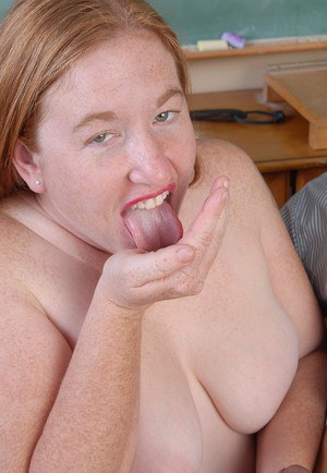 Older fatty Keno having her big fat ass spanked before jacking penis
