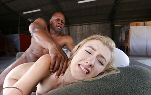 Barely legal blonde girl Alexa Grace taking painful anal from BBC