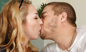 Blonde coed Zoe Parker having shaved pussy licked and fingered