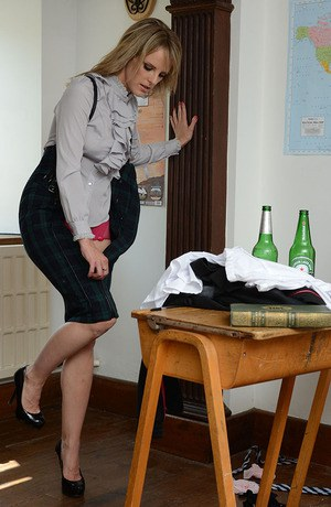 Blonde teacher Headmistress Mackenzie seducing schoolgirl Lizzie Gibson