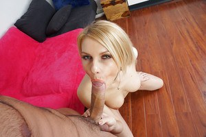 Hot blonde chick Karina Grand getting chipmunked by large cock