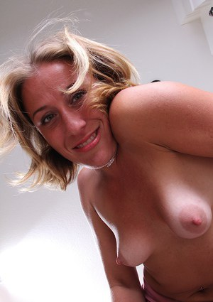 Over 30 MILF Sky tugging on erect nips for up close photos