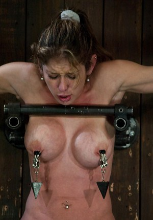 Restrained MILF Felony forced to ride Sybian machine to orgasm