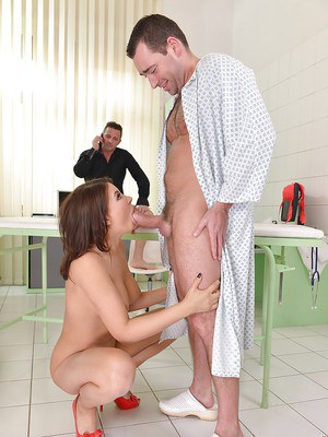 Busty Euro beauty Anna Polina taking hardcore DP from uncut cocks