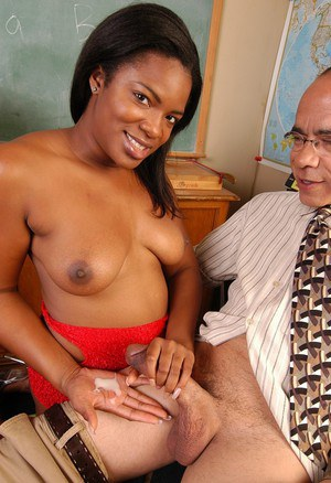 Ebony MILF plumper Annabelle releases big natural boobs before giving bj