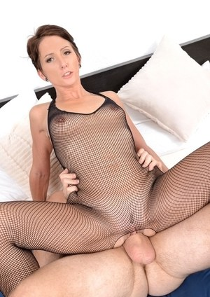 MILF Missy Lee taking hardcore doggystyle sex in crotchless bodystocking