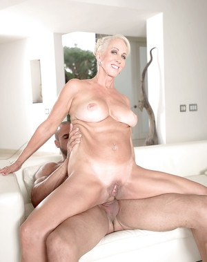 60 yr old grandma takes big black cock in interracial video - 3 7