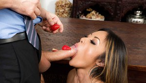 Asian housewife Kaylani Lei going ATM after butt fuck from massive cock