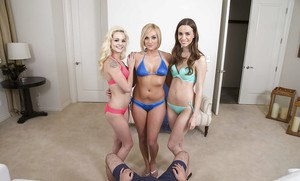 POV blowjob action with teen sluts Elsa Jean, Kate England and Tali Dova