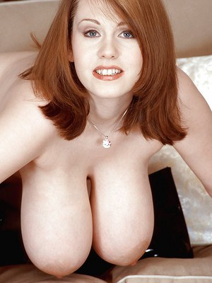 Redheaded Euro first timer Nicole Peters unveiling huge MILF boobs