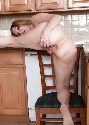 Older housewife lacy stripping in kitchen for tiny tit and ass exposure