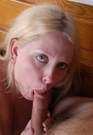 Blonde fatty Christal having big tits and nipples licked before oral sex