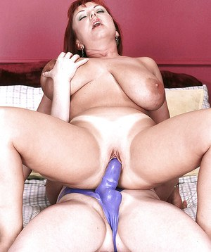 Busty chubby moms Angela White and Cherry Brady fucking with strapon cock