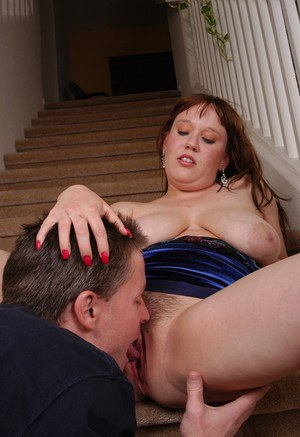 Busty mature plumper Juliet gives and receives oral sex before cumshot