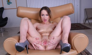 MILF solo girl Rebecca Blue reveals twat and ass after lingerie removal