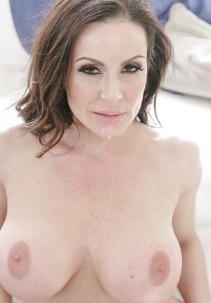 Busty MILF cougar Kendra Lust giving and receiving oral sex for cum on face