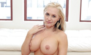 Chesty blonde mom Alena Croft taking hardcore anal and vaginal fucking