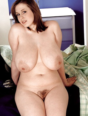 Chubby amateur Nicole Peters exposing large hooters for self nipple licking