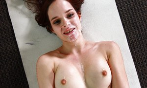 Spinner Jenna J Ross takes POV cumshot on face after giving blowjob