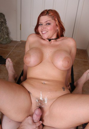 Mouth break redhead with big boobs rides cock probably the BEST