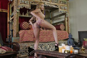 Latina cosplay babe Chloe Amour showing off long legs and pornstar ass